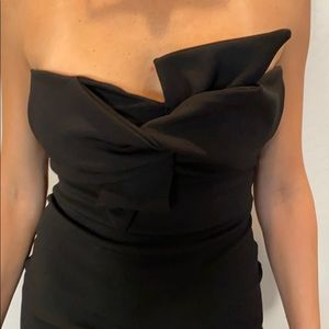 Topshop knot strapless dress
